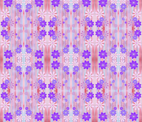 watercolour and blossoms fabric by ladyrattus on Spoonflower - custom fabric