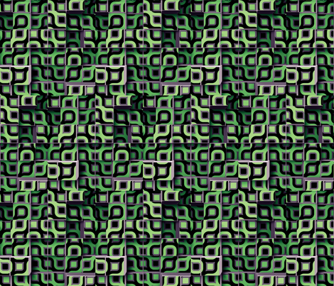 Circle Cubes 3 fabric by animotaxis on Spoonflower - custom fabric