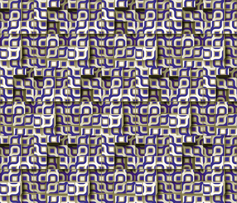 Circle Cubes 6 fabric by animotaxis on Spoonflower - custom fabric