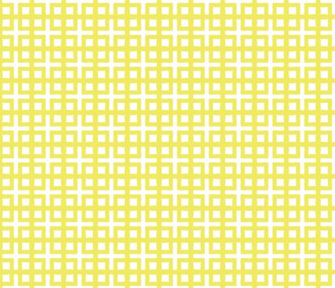 BLOC TRELLIS- chartreusey yellow fabric by marcador on Spoonflower - custom fabric
