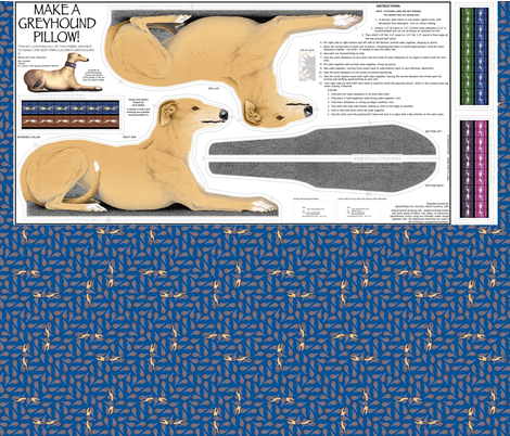 Greyhound sewing projects - links fabric by artbyjanewalker on Spoonflower - custom fabric