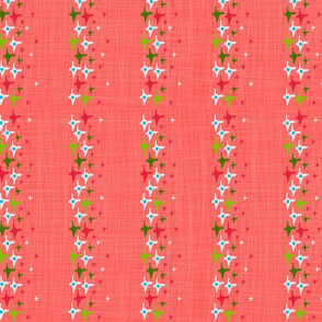 Watermelon Ikat Stars