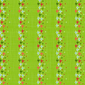 Ikat Lime Stars
