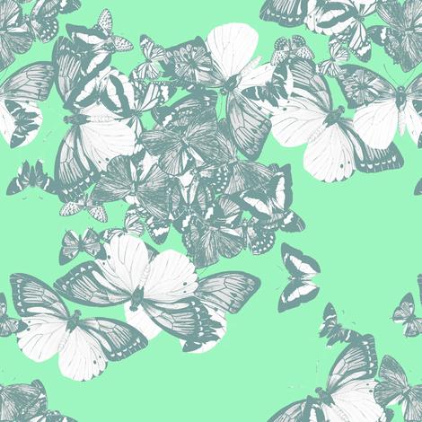 FLUTTER - mint mist fabric by marcador on Spoonflower - custom fabric