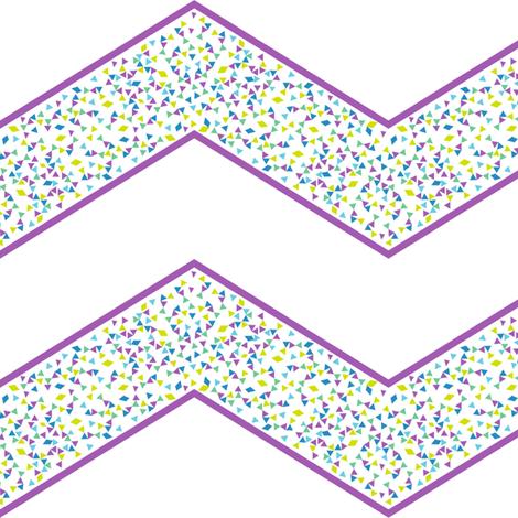 Chevron Triangled Bliss - Grapetastic! - Exceptional Skyline - © PinkSodaPop 4ComputerHeaven.com fabric by pinksodapop on Spoonflower - custom fabric