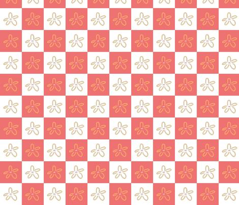 Salmon Starfish fabric by emily_caraballo on Spoonflower - custom fabric