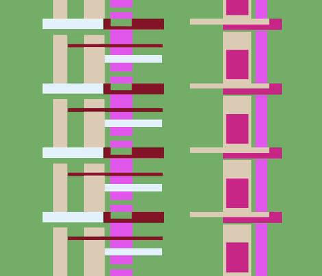 Geometric Stacks fabric by boris_thumbkin on Spoonflower - custom fabric