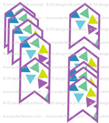 Arrows Striped - Triangled Bliss - Exceptional Skyline - © PinkSodaPop 4ComputerHeaven.com