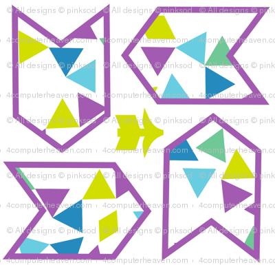 Arrows Quad - Triangled Bliss - Exceptional Skyline - © PinkSodaPop 4ComputerHeaven.com