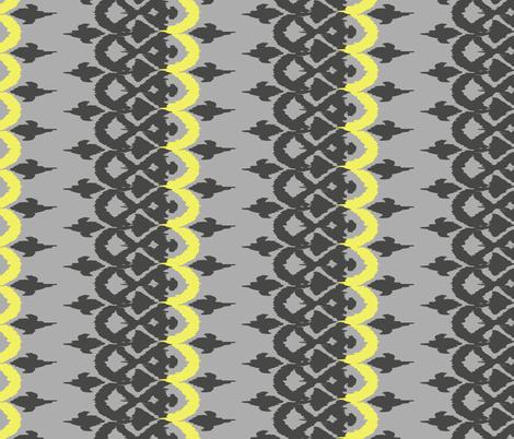 OROZCO - grey and icy lemon fabric by marcador on Spoonflower - custom fabric