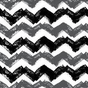 Black and White Chevron stamp Pattern