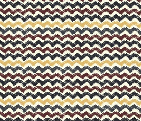 Chevron in Burgundy and Mustard fabric by emily_caraballo on Spoonflower - custom fabric