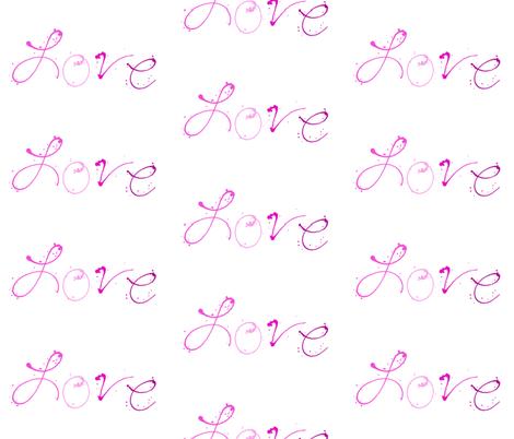 Love - Paint Splatters Words - Pinks - © PinkSodaPop 4ComputerHeaven.com fabric by pinksodapop on Spoonflower - custom fabric