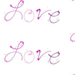 Love - Paint Splatters Words - Pinks - © PinkSodaPop 4ComputerHeaven.com