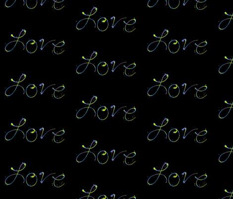 Love - Paint Splatters Words - Exceptional Skyline  - © PinkSodaPop 4ComputerHeaven.com fabric by pinksodapop on Spoonflower - custom fabric