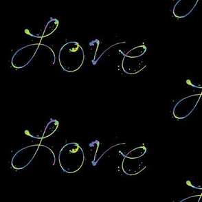 Love - Paint Splatters Words - Exceptional Skyline  - © PinkSodaPop 4ComputerHeaven.com