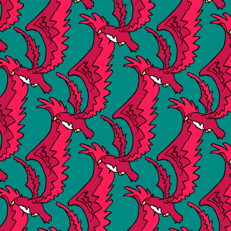 Bright Birds fabric by pond_ripple on Spoonflower - custom fabric