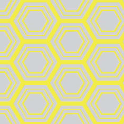 My sweet honey comb fabric by mezzime on Spoonflower - custom fabric