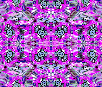 Polymer Clay Cane Fabric-purple