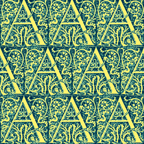 The Golden Letter fabric by amyvail on Spoonflower - custom fabric