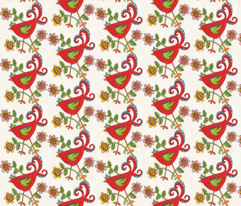 chicken_7 fabric by pamsquilting on Spoonflower - custom fabric