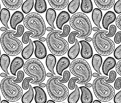 Pi Paisley-original fabric by doodle-ee-doo on Spoonflower - custom fabric