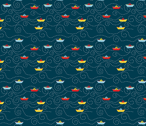 paper_s_boat_M fabric by nadja_petremand on Spoonflower - custom fabric