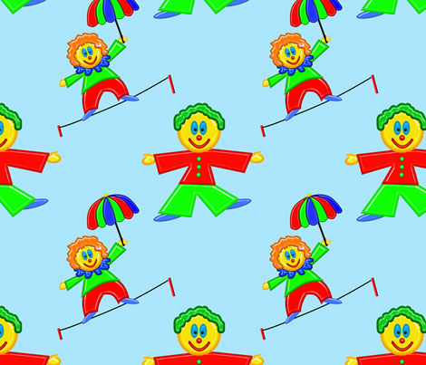 Happy Clowns fabric by bluewrendesigns on Spoonflower - custom fabric