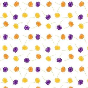 Scattered dandelions purple