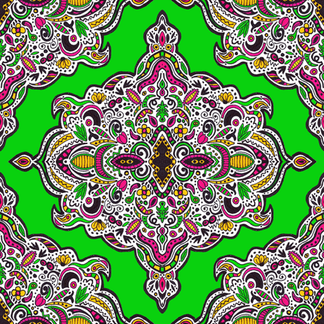 Mellow Medallions (Green) fabric by robyriker on Spoonflower - custom fabric