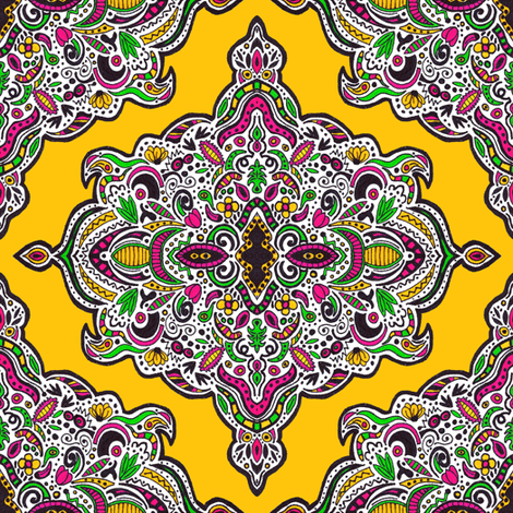 Mellow Medallions (Yellow) fabric by robyriker on Spoonflower - custom fabric