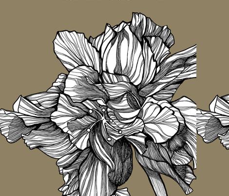 HibiscusLine_Fabric_on_Granite fabric by brownwilliam_llc on Spoonflower - custom fabric
