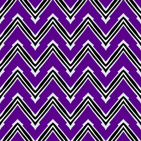 Purple and Black Capped Chevron fabric by pond_ripple on Spoonflower - custom fabric