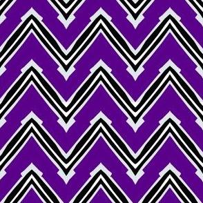 Purple and Black Capped Chevron