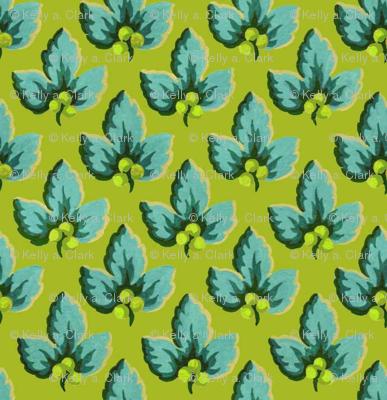 Chartreuse & Aqua_Dancing_Berries