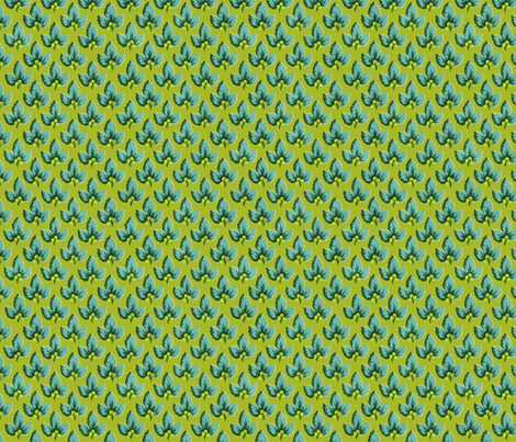 Chartreuse & Aqua_Dancing_Berries fabric by kelly_a on Spoonflower - custom fabric
