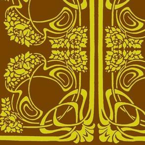 Art Nouveau3-green/brown