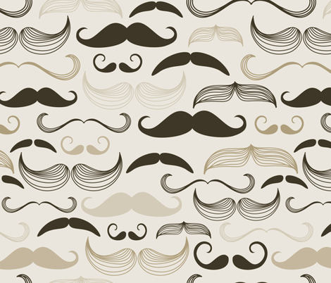 mustaches fabric by peacefuldreams on Spoonflower - custom fabric