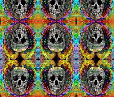 skull of frivolity fabric by charrmer on Spoonflower - custom fabric