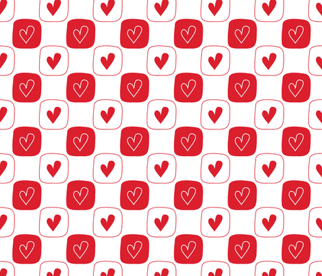 Red Hearts fabric by peacefuldreams on Spoonflower - custom fabric