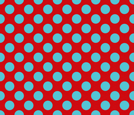 Red and Blue Dotted fabric by peacefuldreams on Spoonflower - custom fabric
