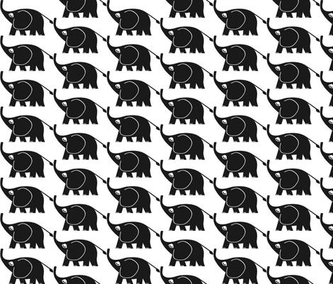 elephant on parade 2 fabric by mezzime on Spoonflower - custom fabric