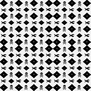 MA-9-Black-White-Skulls-X-Diamonds