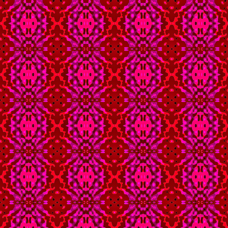 Purple flower with red fabric by dk_designs on Spoonflower - custom fabric