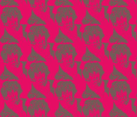 Geek Hero 2 raspberry crush fabric by kcs on Spoonflower - custom fabric