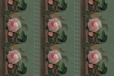 Still_Life_of_Flowers_on_a_Ledger fabric by craftyscientists on Spoonflower - custom fabric