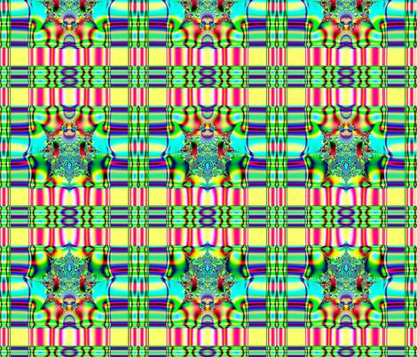 Fractal: Spring Plaid Fabric fabric by artist4god on Spoonflower - custom fabric