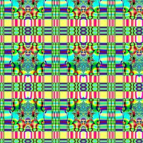 Fractal: Spring Plaid Fabric