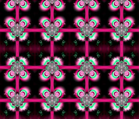 Fractal: Pink Ribbons and Bows fabric by artist4god on Spoonflower - custom fabric