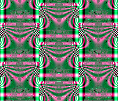 Fractal: Kimono In Pink And Green fabric by artist4god on Spoonflower - custom fabric
